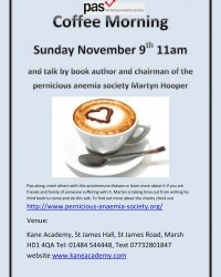 This Sunday Coffee Morning in Huddersfield
