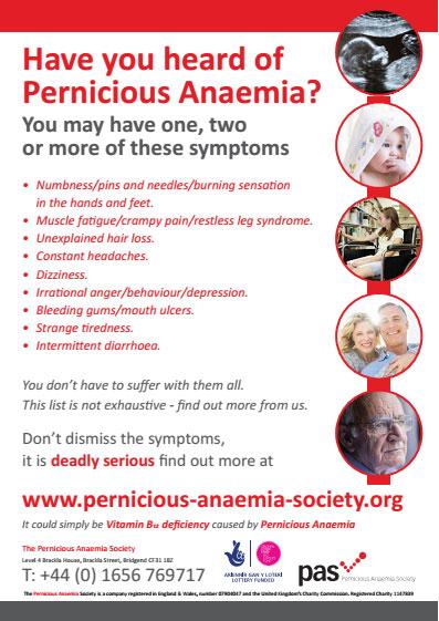 posters - pernicious anaemia society, Skeleton