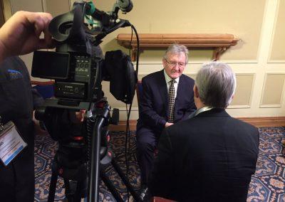 Dr Steele being interviewed