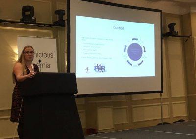 Dr Heidi Seage presenting
