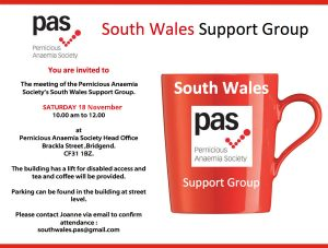 South Wales Support Group Meeting @ PAS Office