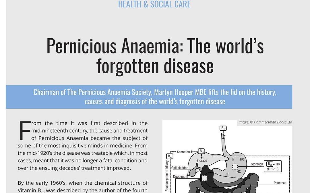 Pernicious Anaemia: The world's forgotten disease