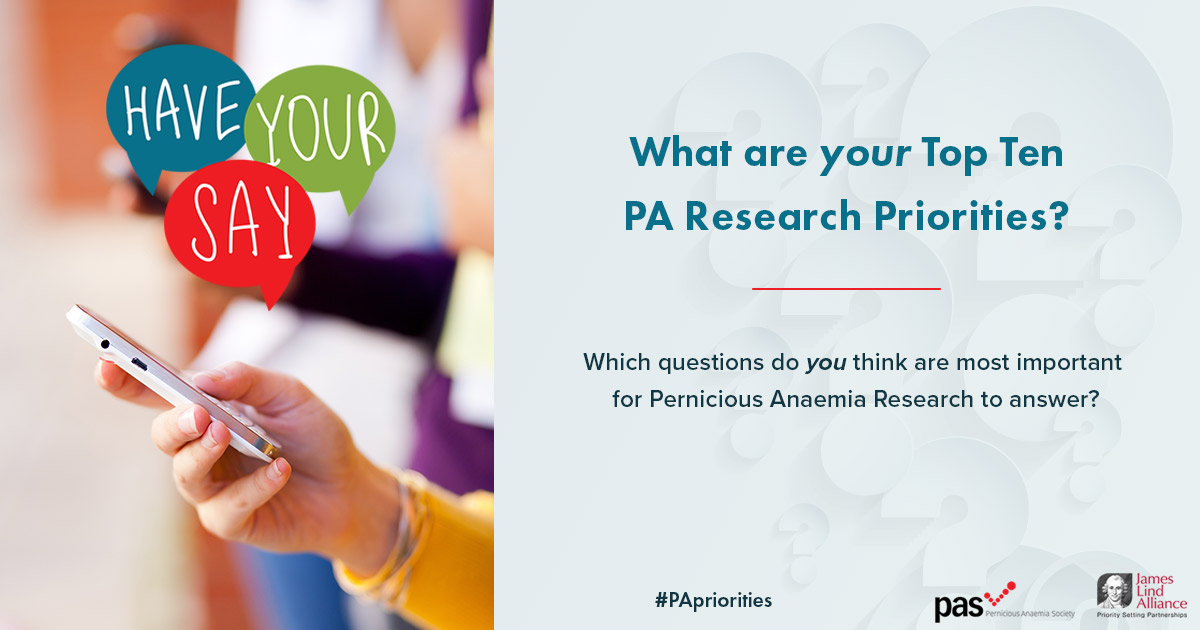 top 10 Pernicious Anaemia priorities